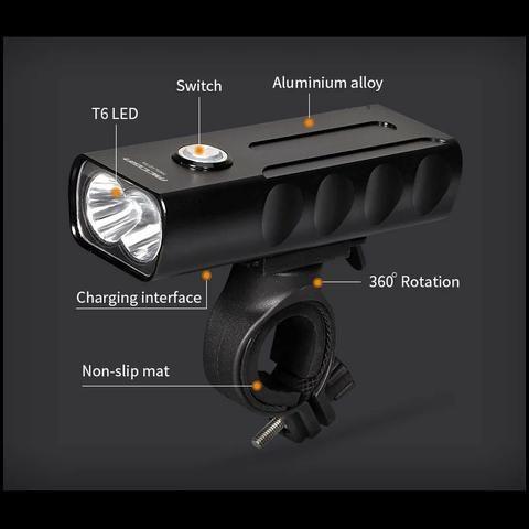 Lanterna Farol + Sinalizador traseiro USB prova d'água - Foto 3