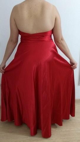 Vestido de Festa Longo Vermelho 44/46 - Foto 5