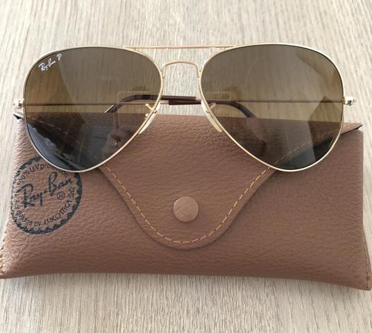 Óculos escuros Ray Ban modelo aviador. Original. - Bijouterias ... 2d4f3c485e