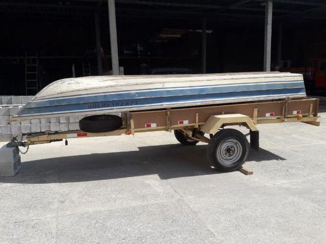 Barco de alumínio e reboque - Foto 9
