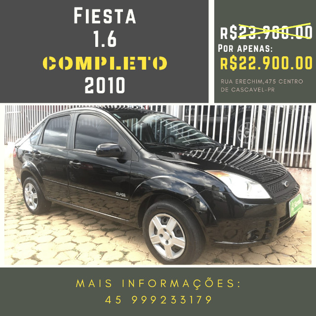 Fiesta Sedan 1.6 2010 Completo