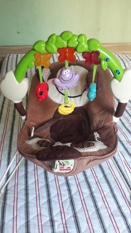Chiqueirinho chicco + cadeirinha vibratória + babá eletrônica + carrinho de bebê., - Foto 2