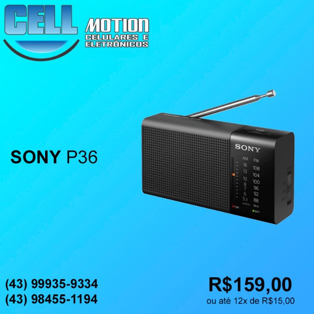 Rádio portátil AM/FM Sony ICF-P36