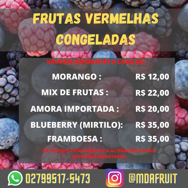 FRUTAS VERMELHAS CONGELADAS - Foto 6