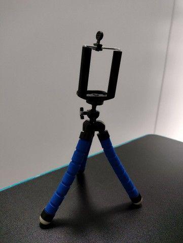Mini Tripé Portátil Celular Suporte Flexível Regulagem Alt - Foto 3