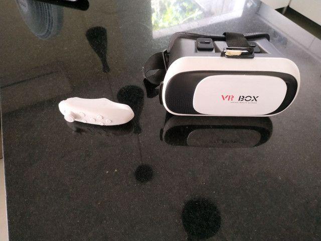 Vr box realidade virtual com controle para jogos.