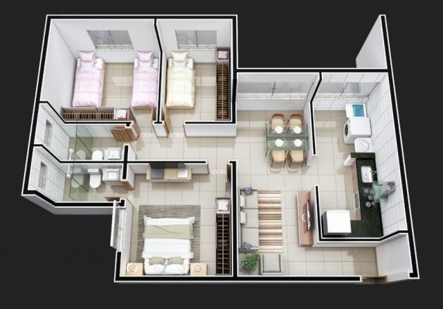 Apartamento à venda com 3 dormitórios em Iguaçu, Ipatinga cod:477 - Foto 4