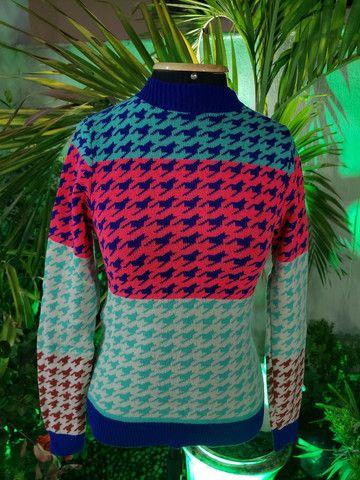 Blusa manga tricot modal - Foto 2