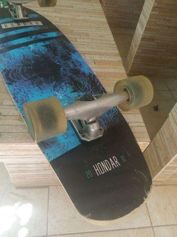 Simulador de surf Hondar semi-novo skate sk8 - Foto 5