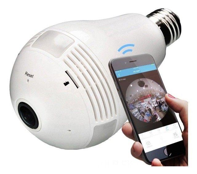 Lâmpada LED com Camera 360º WIFI - Foto 2