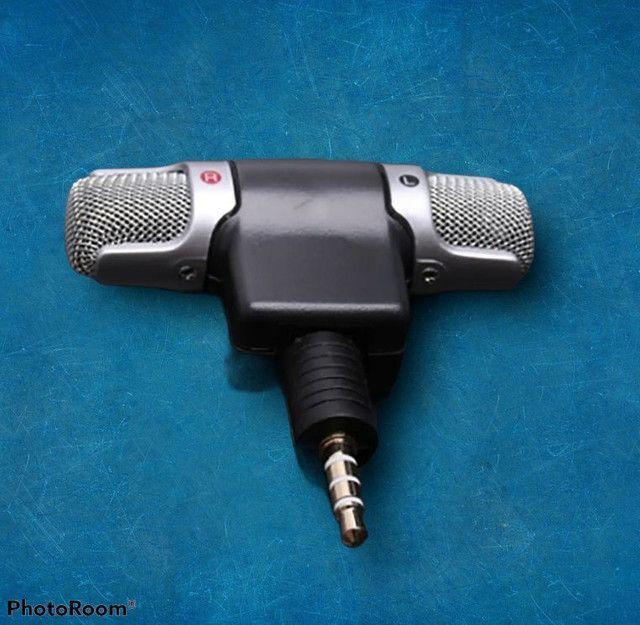 Mini microfone pra celular esterio super som grande promoção - Foto 2