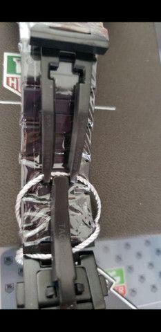 Relógio Tag Heuer Mercedes Benz SLS Black a prova d'água Completo - Foto 2