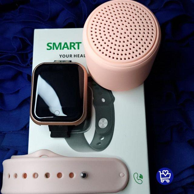 Kit relógio D20+ caixinha de som infones - Foto 3