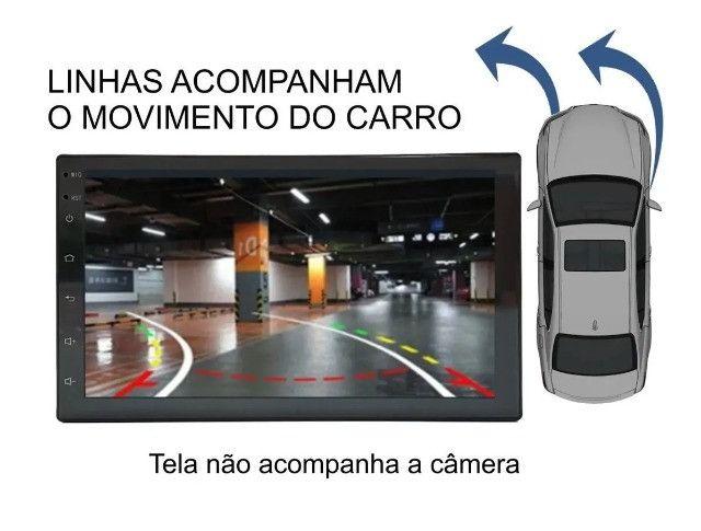Câmera De Ré com Linha Dinâmica Tartaruga Visão Noturna Estacionamento - Foto 2