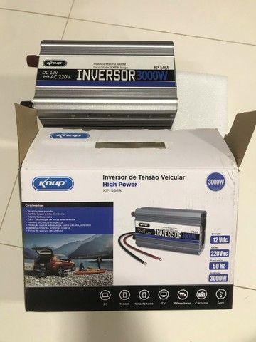 Inversor conversor veicular c/ potência 3000w 12v p/ 220v