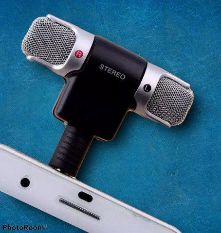 Mini microfone pra celular esterio super som grande promoção - Foto 6