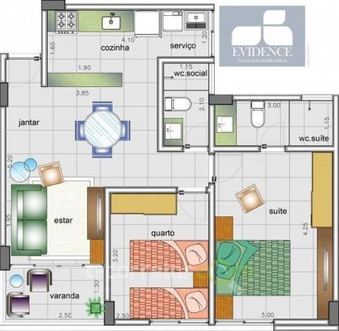 Apartamento com 02 quartos e varanda nos Bancários!!!