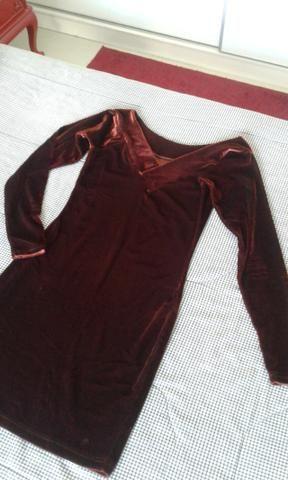 Vestido de veludo marrom - Foto 4