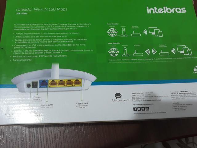 Vendo um roteador Wi-Fi 150 Mbps pra vender logo - Foto 4