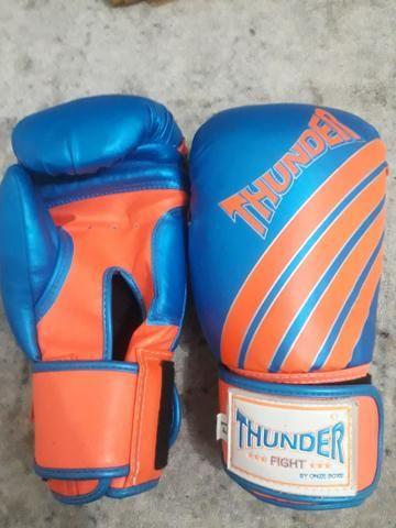 Luvas de boxe/14 thunder. R$90 - Foto 2