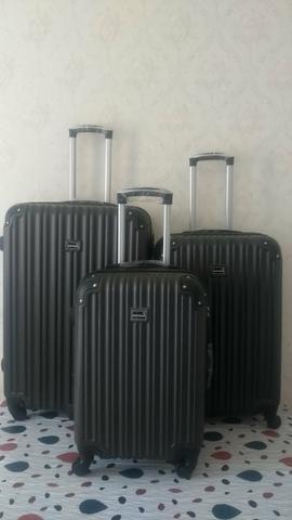 Conjunto kit de malas de viagem ABS fibra NOVAs