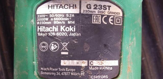 Esmerilhadeira Hitachi 2000w, 220V - Foto 3