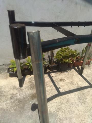 Vendo estruturas de ferro reforçado e desmontável. Tipo mesa !! $35,00.!! - Foto 5