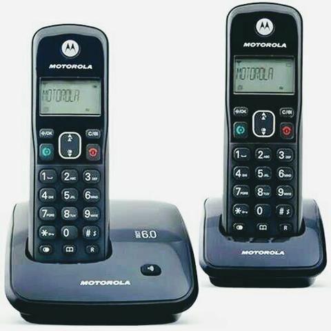 Telefone sem fio Motorola duplo - Foto 2