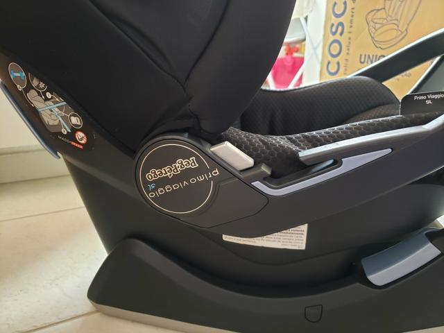 Kit carrinho Peg-Perego switch four + bebê conforto + forro almofadado sob medida - Foto 6