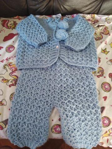 Conjunto de lã para rescem nascido - Foto 2
