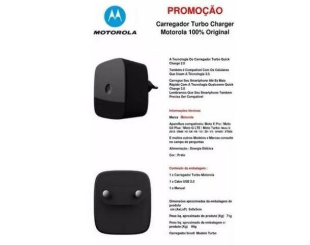 Carregador Motorola Turbo 3.0 - Foto 4