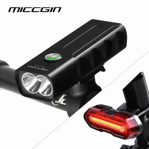 Lanterna Farol + Sinalizador traseiro USB prova d'água