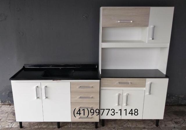 Kit Cozinha. Pia+Armário. NOVOS. ENTREGAMOS - Foto 2