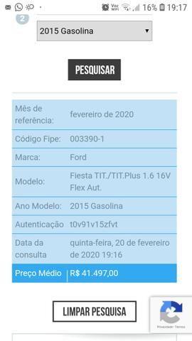 New Fiesta Titanium 1.6 2015 Automático - Abaixo da tabela FIPE (Carro Top) - Foto 7