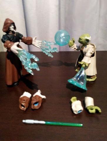 Mestre Yoda x Imperador Palpatine - Star Wars - Foto 4