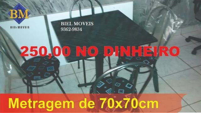 Mesas de pedra ,novas, com 4 cadeiras, promoção, a partir de R$ 249,00