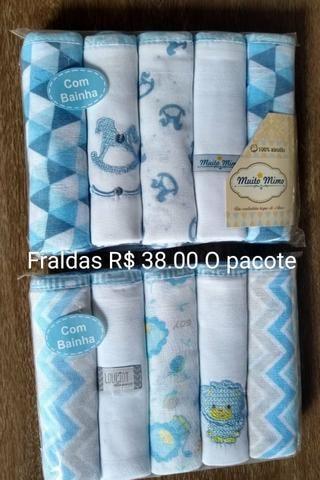 Fraldas pacote com 5 unidades todas bainhadas - Foto 3