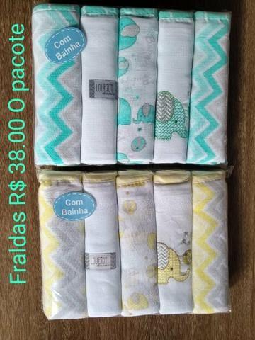 Fraldas pacote com 5 unidades todas bainhadas - Foto 4