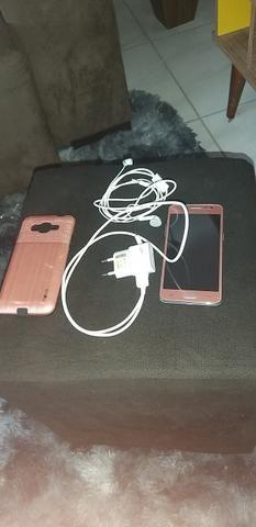 Venho J2 Prime dual chip,rosa, com película de vidro, e capinha