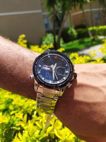 Relógio Naviforce Marca De Luxo Original Multifuncional,  Analógico e a prova d'água. - Foto 5