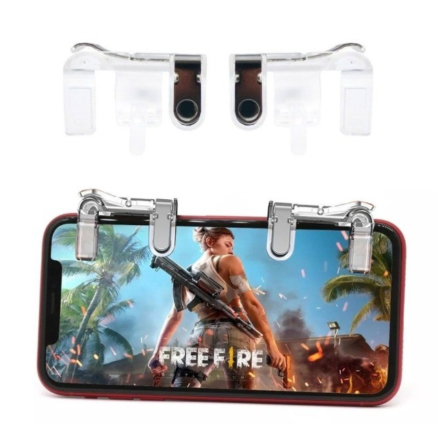 Gatilho L1 + R1 Pubg Celular Mira Jogo Tiro Fps Free Fire FF Pubg Cod mobile Gamepad