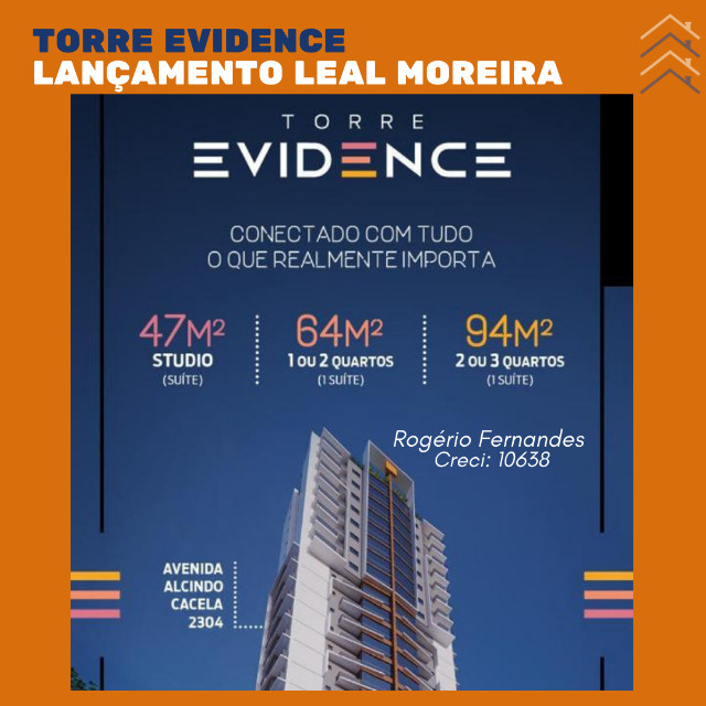 Venda 004 Torre Evidence 47m² de puro estilo. *