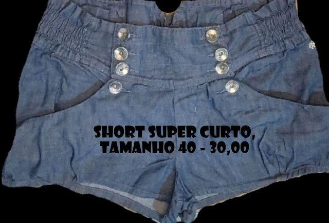 Shorts e Minisaia Diversos - confira os tamanhos - Foto 5