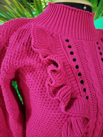 Casaco tricot linha mais maravilhosa!! - Foto 2