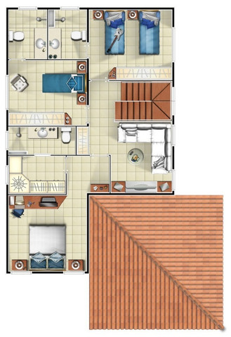 (**)Casa com 03 Dorm. Duplex em Condomínio, na Colônia Japonesa próximo Av. das Torres(**) - Foto 19