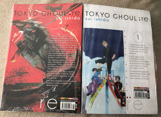 Tokyo Ghoul:RE 1 e 7 LACRADO (Versão antiga) - Foto 2