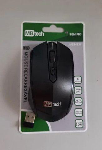 Mouse Óptico Sem Fio Recarregável - Silencioso Slim Usb 3.0