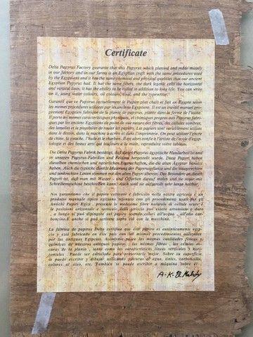 Pintura sobre papiro egípcio genuíno  - Foto 4