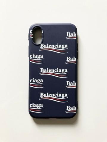 on sale 1315c 94886 Case Capa Silicone Balenciaga Para Iphone X / Xs