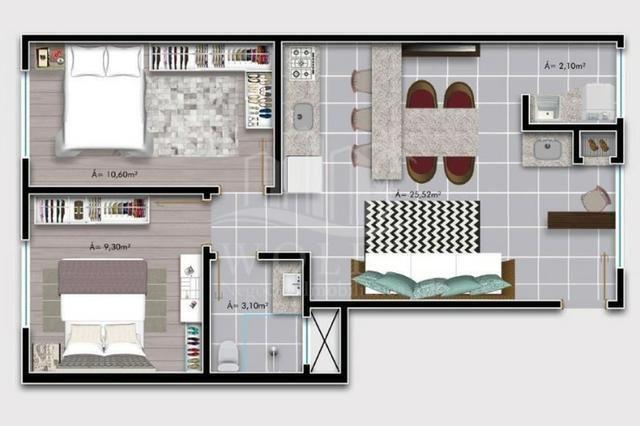 JD70 - Lindo Apartamento em Itajuba com 2 quartos e a 500 metros da praia! - Foto 17